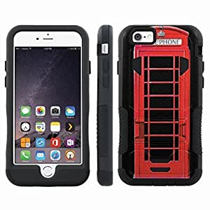 [ArmorXtreme] Hybrid Rugged Armor Design Image Protect Case With Kickstand (Telephone) for Iphone 6 Plus (5.5)
