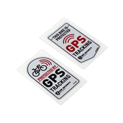 Langersun 2PCS Car Stickers Warning GPS Tracker Alarm Bike Protected Motorbike Bumper 7x4cm (C): Automotive