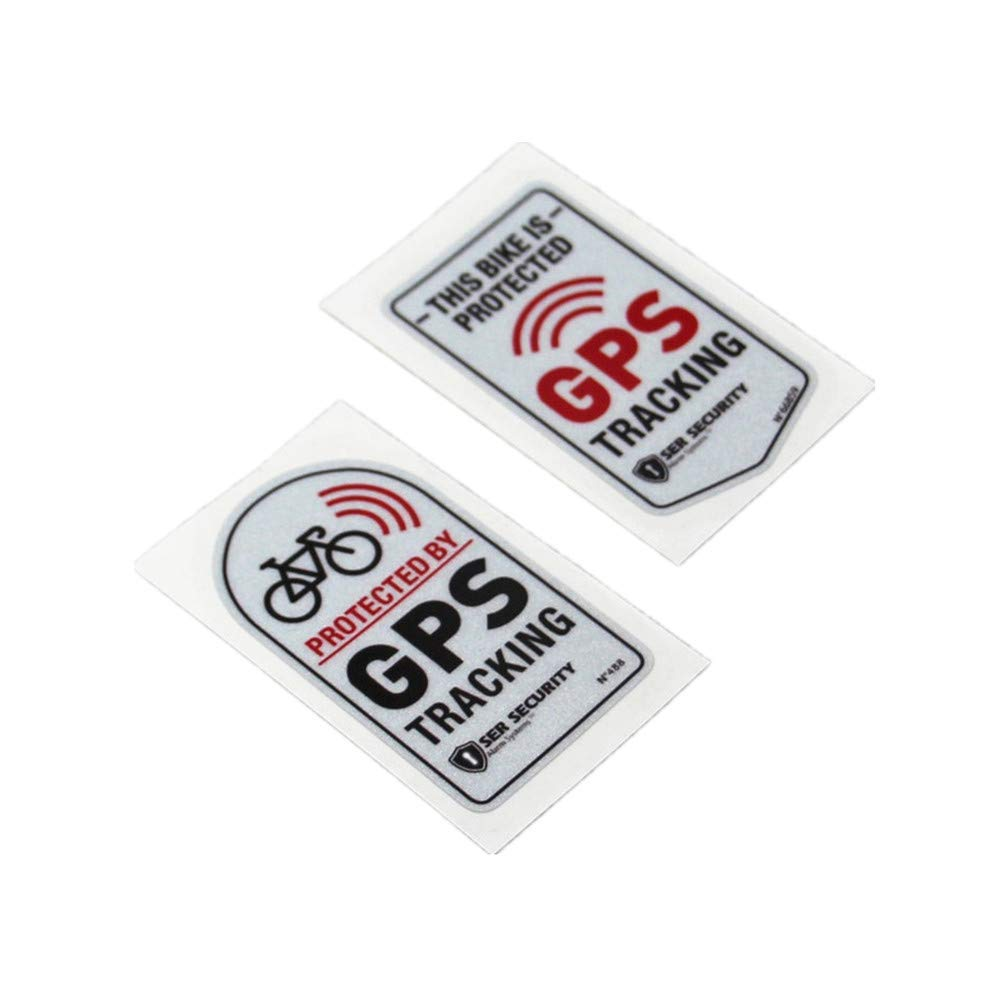Amazon com langersun 2pcs car stickers warning gps tracker alarm bike protected motorbike bumper 7x4cm c automotive