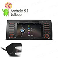 XTRONS Quad Core 7 Inch Android 5.1 Lollipop Car Stereo Multi-touch Screen Radio DVD Player CANbus Built-in DAB+ Tuner for BMW E53 X5 Reversing Camera Included