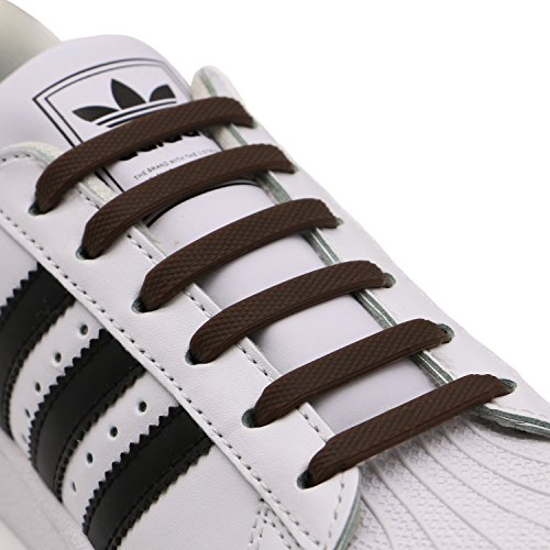 INMAKER No Tie Shoelaces for Kids and Adults, Elastic Shoelaces for Sneakers, Silicone Flat Tieless Running Shoe - Flat Twist Top