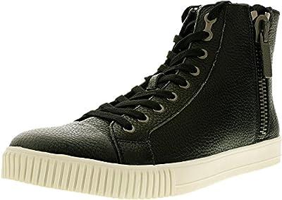 Calvin Klein Jeans Men's John Pebble Leather Ankle-High Leather Fashion Sneaker