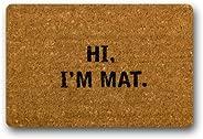 CoolYoYo Hi I'm Mat Pattern Custom Doormat Design Non-woven Fabric Multifuntional Doormat Indoor or Outdoo