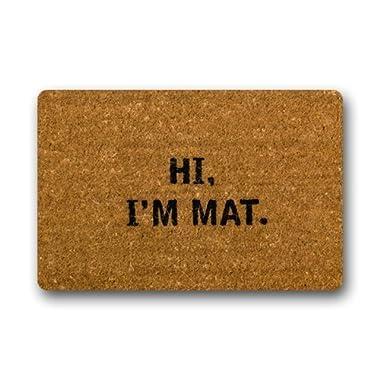 NINNAYUAN Hi I'm Mat_ Lovely Outdoor/Indoor Doormat(30x18inch)
