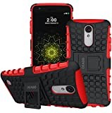 For LG Aristo Case, LG Phoenix 3 Case, LG Fortune Case, LG Risio 2 Case, LG Rebel 2 LTE Case, LG K8 2017 Case, OEAGO Tough Rugged Dual Layer Protective Case with Kickstand (Red)