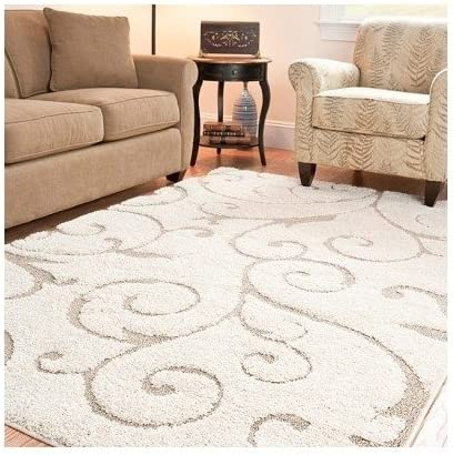 Ultimate Soft Cushioned Cream Beige Ivory Shag Area Rug 5 3 x 7 6 . On Sale Now Bring Elegance Into Your Living Room, Dining Room, Or Bedroom With This Chic, Modern, Contemporary Area Rug.