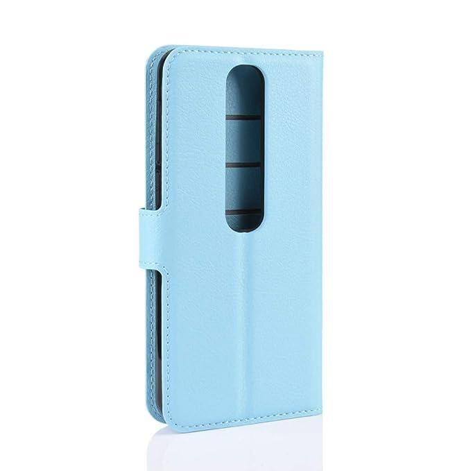 SWMGO® Capirotazo Billetera Funda para Vodafone Smart V10 (Azul ...