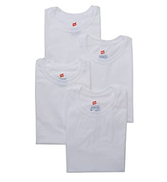 6b45c27ee57b10 Hanes X-TEMP Combed Cotton Crew T-Shirts - 4 Pack (YXT1W4) XL White at  Amazon Men s Clothing store