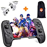 Game-Yorker Wireless Remote Gamepad | Mobile Game Controller for Pubg and More | Bluetooth Joystick for iOS & Android Phone (Latest Version) | with Storage Bag & Extra L1R1 Shoot-Aim Triggers