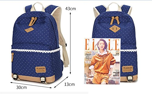 OPSUN - Bolso mochila  para mujer Taille Unique color negro y azul