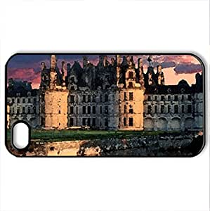 Palace - Case Cover for iPhone 4 and 4s (Watercolor style, Black)