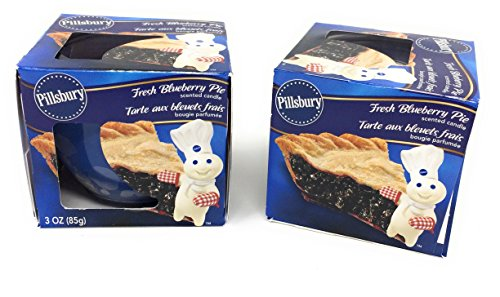 Pie Scented Glass - Pillsbury Dessert Scented Candle, Set of 2 Glass, 3