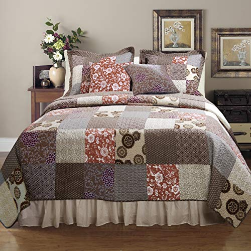 Best Greenland Home Fashions Greenland Home King Size Beds - Greenland Home Fashions Stella Quilt Set,
