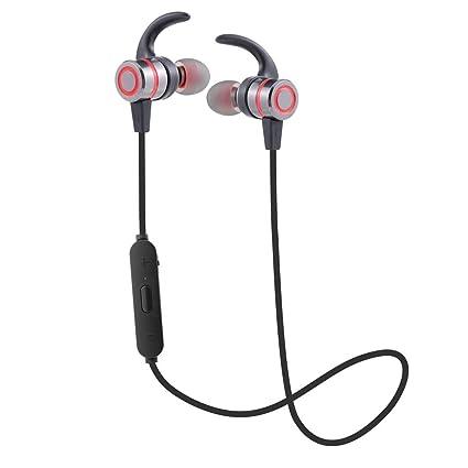 Modo privado Auriculares inalámbricos Bluetooth Funcionamiento al aire libre de metal Hifi Auriculares intrauditivos magnéticos,