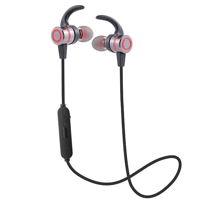 Modo privado Auriculares inalámbricos Bluetooth Funcionamiento al aire libre de metal Hifi Auriculares intrauditivos magnéticos, Negro/Rojo / Naranja/Azul: ...