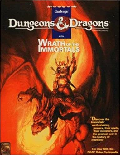Wrath Of The Immortals Dungeons Dragons Game Accessory Aaron