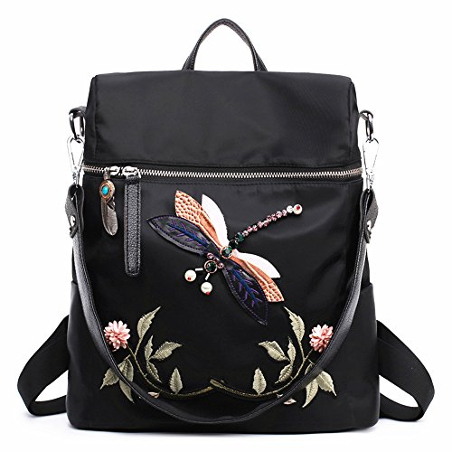 Casual backpack for women or girls oxford bags fashion printing - Diro Lady