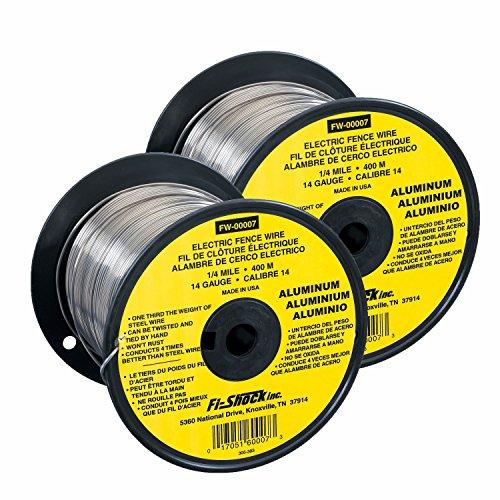 Fi-Shock FW-00007T Aluminum Wire, 2 Pack (Shock Wire Fi Aluminum)