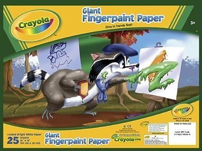 Crayola Giant Fingerpaint Paper, (99-3405)   Educational Computers