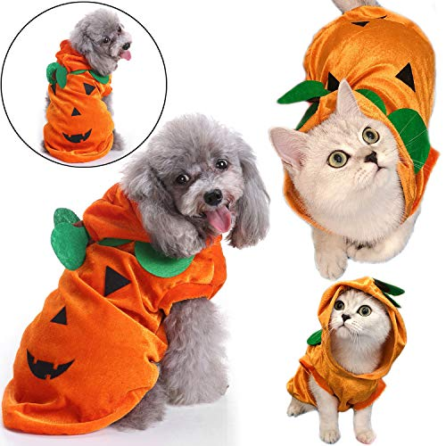Pet Halloween Costumes For Dog Cat Small Medium Large Pumpkin Clothes Dress Hat Shirt Puppy Kitte Hoodie Coat Birthday Halloween Party Cosplay Apparel Accessories -