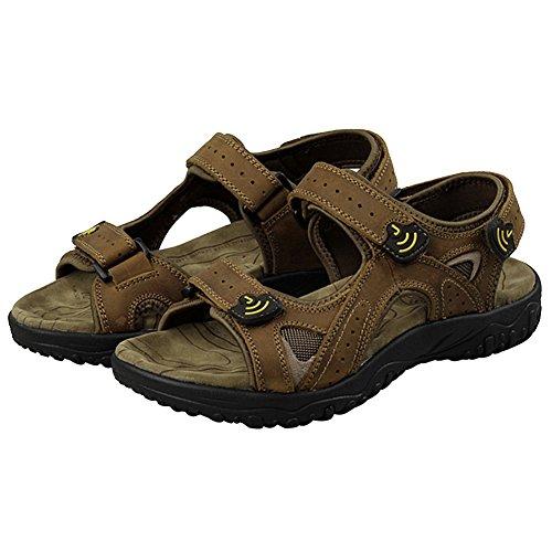 Rismart Mens In Vera Pelle Con Gancetto E Sandali Leggeri Sneakers Outdoor Outdoor Sn01401 Kaki Us10