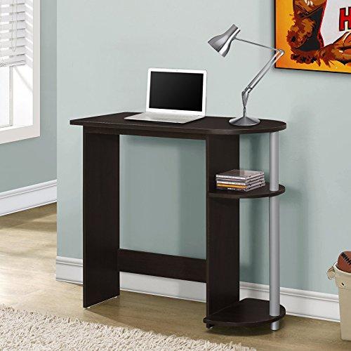 Monarch Cappuccino Compact Computer Desk . (Pottery Barn Desk Hutch)