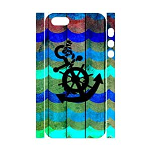 WJLCASE Design - 6WJL3552 Custom Fashionable Anchor Durable Hard Back 3D Cover Case for Iphone 5,5S