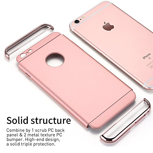Anyos iPhone 5 5S SE 3 in 1 Hard Case, Electroplate Ultra-Thin Shockproof Protective PC Cover for iP - http://medicalbooks.filipinodoctors.org