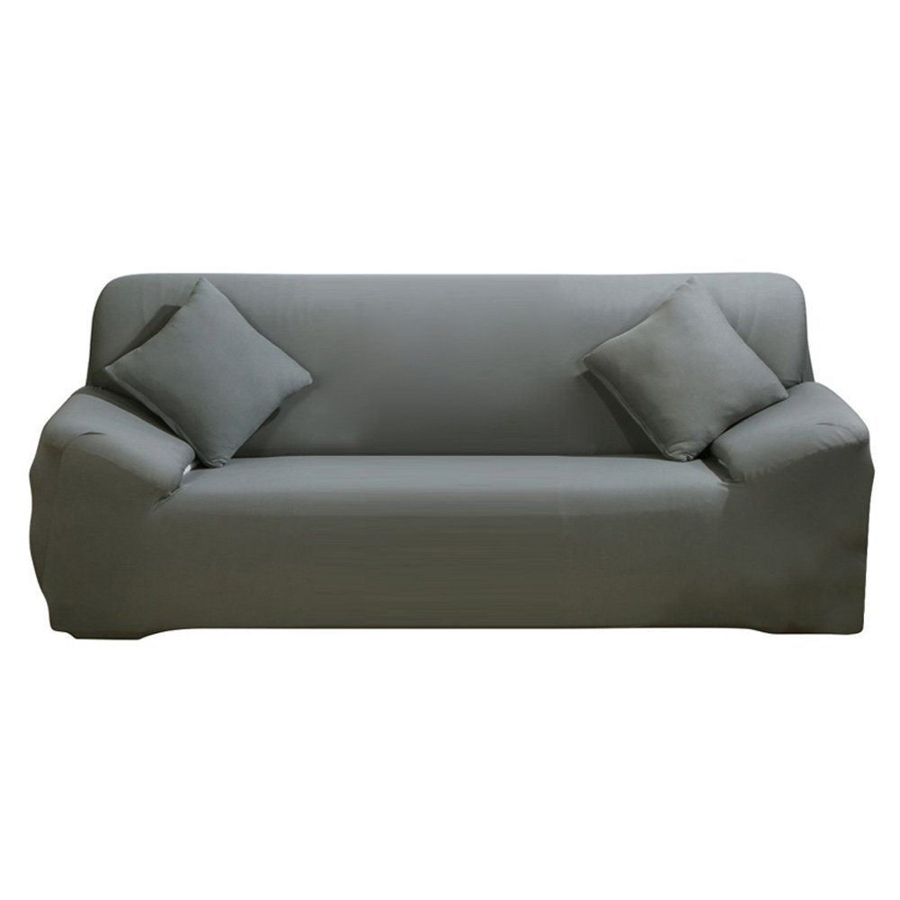 Pleasing Difen Sofa Cover Grey 4 Seater Slipcover Sofa Couch Stretch Elastic Polyester Spandex Fabric Sofa Protector Sofa 3 Seater Grey Best Image Libraries Sapebelowcountryjoecom