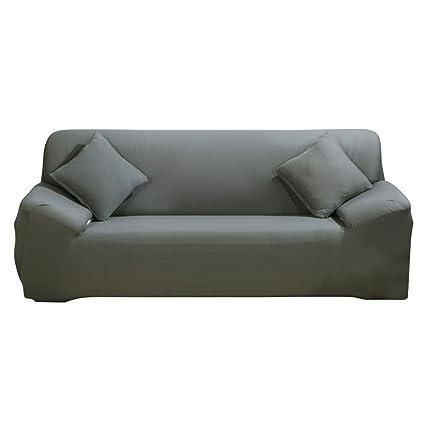WATTA Grey 3 Seater Stretch Elastic Polyester Spandex Slipcover