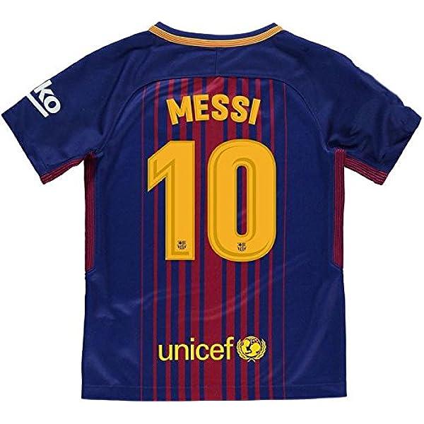 Camiseta 1ª Equipación Replica Oficial FC BARCELONA 2017-2018 Dorsal MESSI - Tallaje ADULTO: Amazon.es: Ropa y accesorios