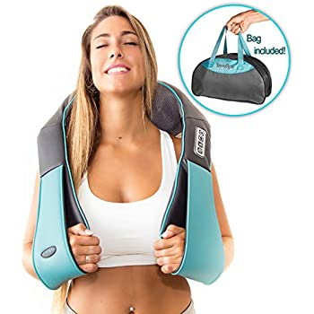 Shiatsu Back Neck and Shoulder Massager with Heat - Deep Tissue 3D Kneading Pillow Massager for Neck, Back, Shoulders, Foot, Legs – Electric Full Body Massage, Relieve Muscle pain - Office, Home & Car