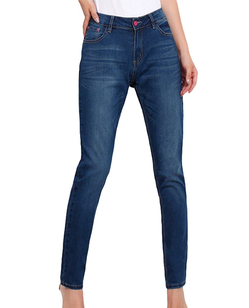 532230b33ce560 YuanDian Damen Herbst Und Winter Lässige Große Größen Skinny Slim Fit Jeans  Mode Frauen Stretch Ankle Enge Denim Bleistifthose: Amazon.de: Bekleidung