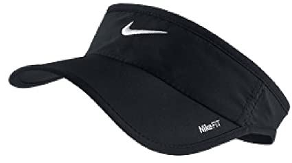 Image Unavailable. Image not available for. Color  Nike Black Dri-FIT  Feather Light Visor 6b8766188f1