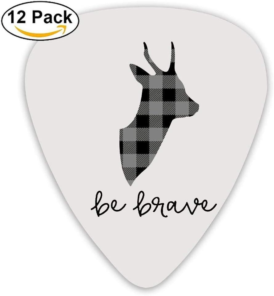 Funny Light Plaid Moose Buffalo Acoustic Grip Guitar Picks 12 Packs: Amazon.es: Instrumentos musicales