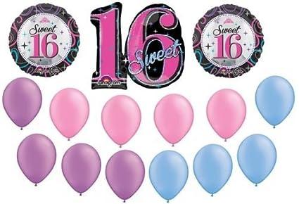 Amazon LoonBalloon SWEET 16 16th Sixteen NEON Birthday PARTY 15