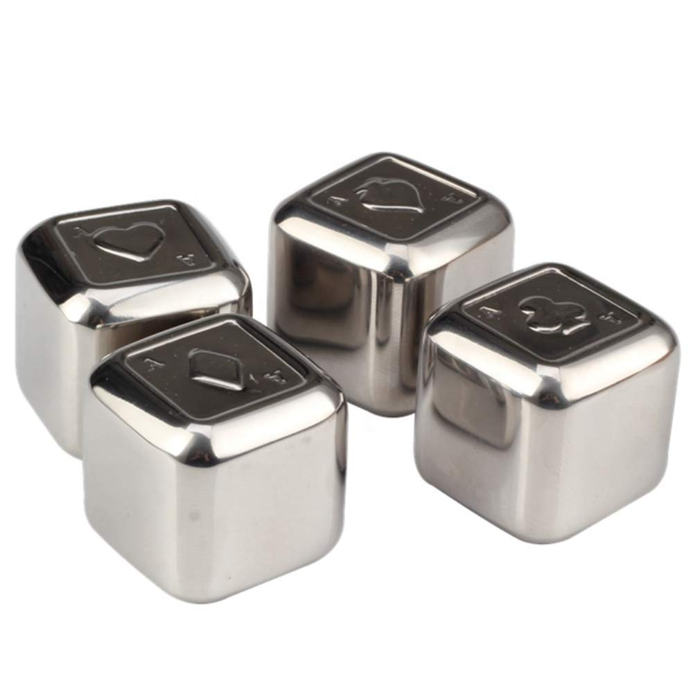 6 Stones Ice Cubist Whiskey Stone Bullets Complete Gift Set Stainless Steel Reusable Ice with Luxury Leather Case