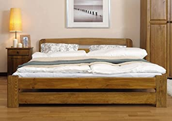 new solid wooden pine bed frame the one with plywood slats
