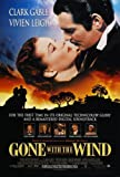 Gone With The Wind Poster S 27x40 Clark Gable Vivien Leigh Olivia de Havilland Poster Print, 27x40