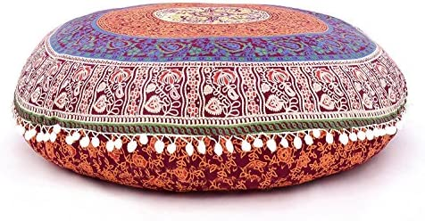Marvelous Amazon Com Large 32 Six Colour Multi Round Pillow Cover Gmtry Best Dining Table And Chair Ideas Images Gmtryco