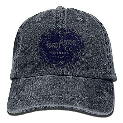 2e034c303d2 A Vintage Ford Motor Company Detroit Retro Cool Adjustable Travel Cotton  Washed Denim Caps