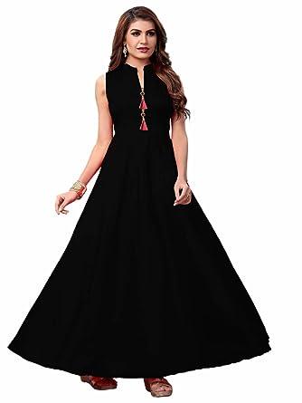 vaidehi creation Women\'s Tafeta Satin Anarkali Style Maxi Long Gowns ...