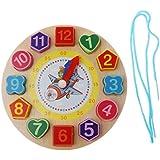 Homyl Wooden Digital Geometry Clock Kids Educational Toy for Boy & Girl - Tiger