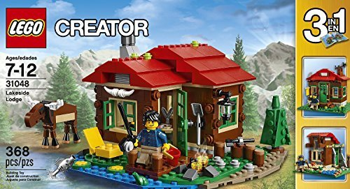 Brick Box Building Creator LEGO 368 Pcs Lakeside Lodge 3-in-1 - Store Lakeside