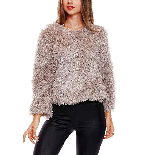 Pull en Fausse Fourrure Pull Femme Hiver