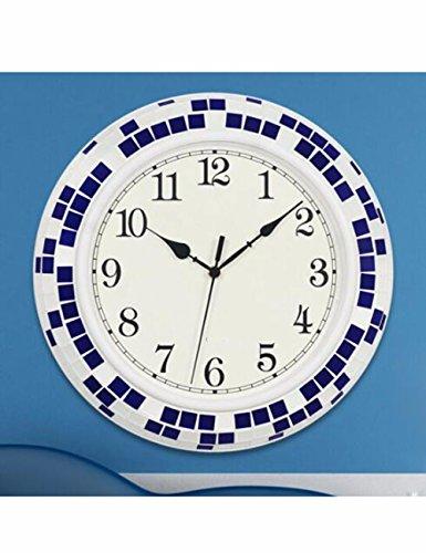SUNQIAN-The living room wall clock metek, European mute personality watch, quartz clock, household decoration simple electronic clock,B by SUNQIAN