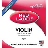 Cuerdas de Violín Super Sensitive Steelcore 3/4: Set