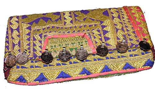 Banjara - Pochette élégante Vintage - Sac Clutch en tissu ethnique indien - Piece Unique - banj012