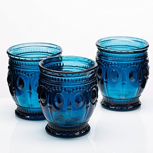 (Richland Vintage Charm Candle Holder Navy Blue Set of)