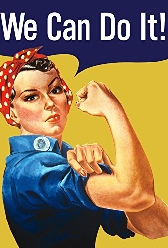 Toland Home Garden We Can Do It 28 x 40 Inch Decorative Rosie Riveter Support Women's Rights March House Flag